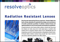 Radiation Resistant Lenses
