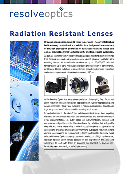 Radiation Resistant Lenses Introduction