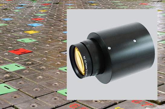 Motorised Zoom Lens for Nuclear Inspection