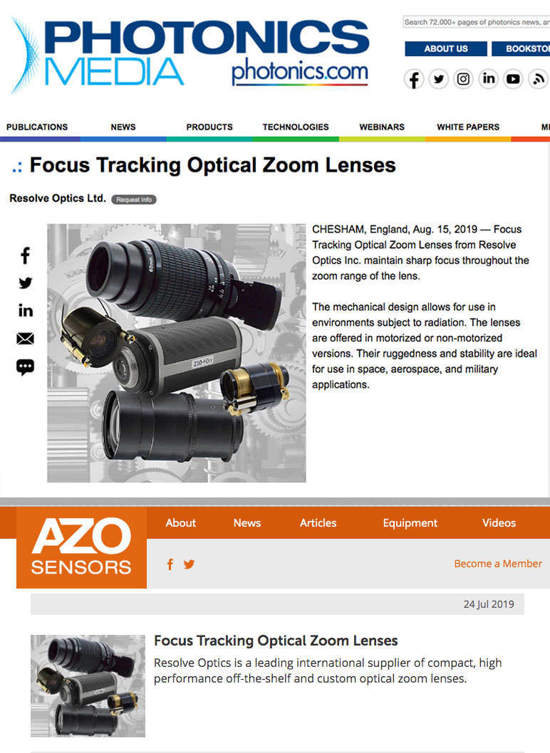 Benefits of Tracking Zoom Lenses