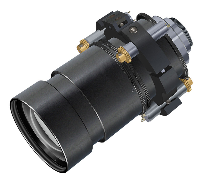 Motorised Non-Browning Zoom Lens for nuclear industry
