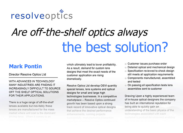 Are Off-The-Shelf Lenses Always the Best Solution?